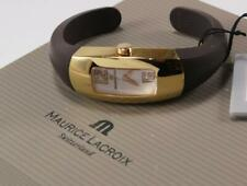 MAURICE LACROIX INTUITION IN3022 ROSE GOLD PLATED RUBBER BAND LADIES SWISS WATCH
