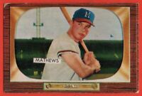 1955 Bowman #103 Eddie Mathews VG-VGEX+ Atlanta Milwaukee Braves FREE SHIPPING