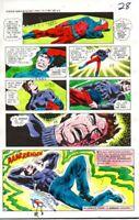 1970s Original DC Comics JLA Justice League of America color guide art page:Atom