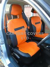 i - TO FIT A HYUNDAI Ix35 CAR, SEAT COVERS, PVC LEATHER, ORANGE/ black 59.99
