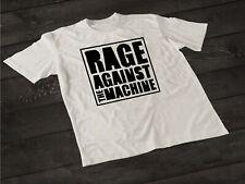 Vintage RAGE AGAINST THE MACHINE LOGO Men's Black & White GILDAN T Shirt tee