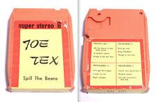 JOE TEX, Spill The Beans - CASSETTA SUPER STEREO 8 - 1972 - OTTIMA