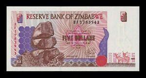 B-D-M Zimbabwe 5 Dollars 1997 Pick 5a SC UNC
