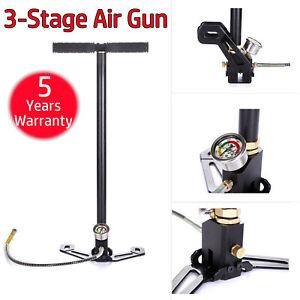 DAYPLUS 3 Stage Stirrup Charger PCP Hand Pump Air Gun Airrifle Gas Filter Gauge