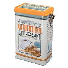 Nostalgiedose Vorratsdose Dose Box Kaffeedose Blechdose Retro Cafe-Croissant