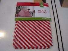 """New Holiday Gift Bicycle Bike Bag Giant Plastic 80"""" x18""""x39"""" Red / White Color L"""