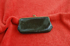 Ancien petit porte monnaie en cuir Vert