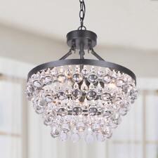 Ivana 5-light Antique Black Luxury Crystal Chandelier