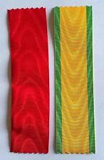 FRANCE: Lot de 2 rubans NEUFS pour Légion d'honneur et Médaille militaire.