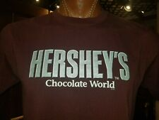 HERSHEY'S Chocolate World red-ish brown large t-shirt, Brand of chocolate