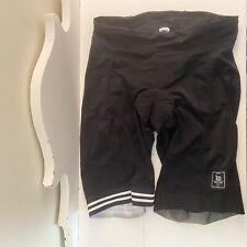 Wattie Ink Men's Triathlon Compression Shorts, Black,XXL