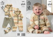King cole double knitting pattern baby splash dk all in one manteau pantalon 3769