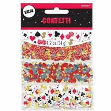 TRIPLE PACK CONFETTI BIRTHDAY PARTY TABLE CASINO THEME VEGAS CARDS DICE 361227