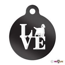 Love English Setter Engraved Keychain Round Tag w/tab park v2 llewellyn