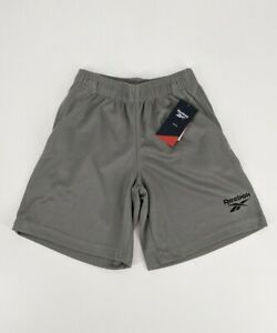 Reebok Kids Spacer Grey Mesh Shorts With Pockets NWT