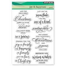 PENNY BLACK RUBBER STAMPS CLEAR JOY & HAPPINESS NEW clear STAMP SET