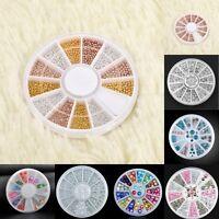 3D Hot Nail Art Rhinestones Glitters Acrylic Tips Decoration Manicure Wheel