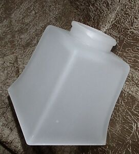 """MISSION STYLE LAMP SHADE SQUARE FIXTURE GLOBE FROSTED GLASS 2 1/4"""" FITTER"""