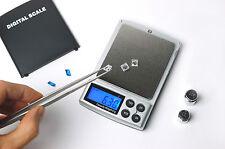 Gems & Jewelry Pocket Digital Carat Scale 0.01/500g , 0.05/2500ct  (Black,New)