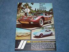 "1968 Fiberfab Kit Car Vintage Ad GT40 Mustang Corvette ""Would you Believe 695"""