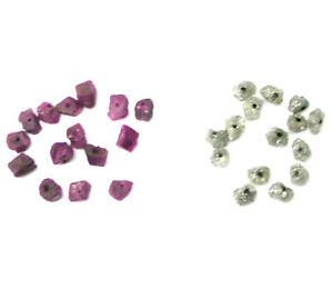 Grobem Diamanten und Grobem Rubine Perlen