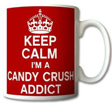 Keep Calm I'm A Candy Crush Addict Mug Cup Gift Retro