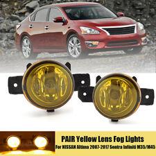 Fog Lights For NISSAN Altima 2007-2017 Sentra Infiniti M35/M45 Yellow Lens PAIR