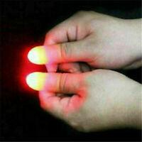 2PCS/Set Magic Finger Light Up Thumb Tips Party Magic Tricks Bar Flashlight Toys