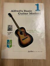 Vtg 1959 Alfred'S Basic Guitar Method #1 Individual Or Group Instruction Book