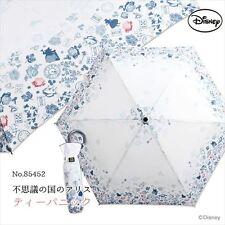 Disney Alice in Wonderland Tea Panic Folding Umbrella Parasol 55cm from Japan