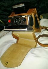 Vintage Polaroid SX70 Land Camera Tested Working first model 1 leather case tray