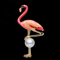 HOT Flamingo Bird Charm Animal Brooch Pin Betsey Johnson Jewelry Gift