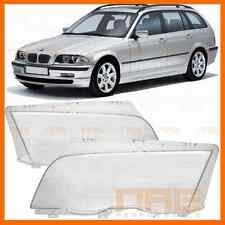 2x VITRE GLACE DE PHARE BMW SERIE 3 E46 TOURING BREAK 98-01 PH1 318D 320D 330D