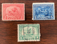 1920 US Sc#548-50 Pilgrim Tercentenary Series 3 Stamp Set