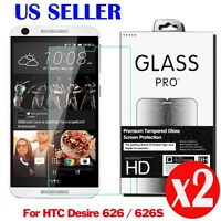 2X 9H Premium Tempered Glass Screen Protector Film For  HTC Desire 626 626S