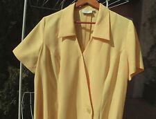 Robe Gérard Pasquier crèpe jaune soleil Impeccable Taille 48