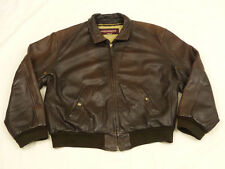 Chevignon Vintage Casual Flyer Jacket Always Brown Bomber SIZE: XL Tip Top