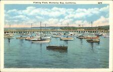 Monterey Bay CA Fishing Fleet c1920 Postcard
