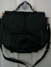 Treesji black genuine leather bag