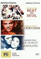 BEAT THE DEVIL + BLOOD ON THE SUN + SNOWS OF KILAMANJARO - NEW & SEALED R4 DVD