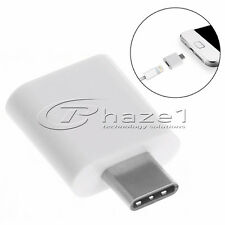 Type C USB Adapter for Iphone 5 6 7, Macbook Pro & more... - White + Black