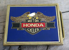 Honda Motorcycle Eagle Brass 1980's Vintage Belt Buckle
