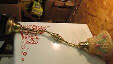 Antique Brass Pendant Light Fixture & Flower Basket Shade