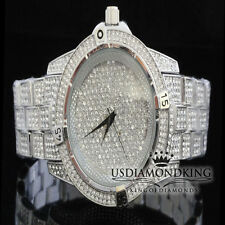 Men's New Fully Ice Out White Gold Finish Bling Master Simulated Diamond Watch