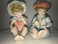 VINTAGE Piano Babies # 6682-BOY/GIRL FIGURINES 4 1/2 In Tall