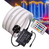 220V 5050SMD RGB LED Tube Strip Neon Flexible Light Changing Color Music Remote
