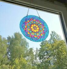 Suncatcher Stained Glass Mandala Window hangings home decor Window Decoration