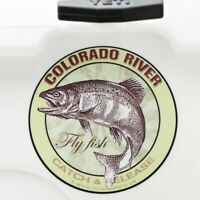 Colorado River Fly Fishing Sticker Decal GUARANTEE 3 yr