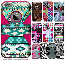 For Apple iPhone 6 6S Plus IMPACT TUFF HYBRID Hard Case Phone Cover Accessory