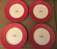 "S/4 Kate Spade RUTHERFORD CIRCLE PINK 9 1/2"" Salad Dessert Accent Plates"